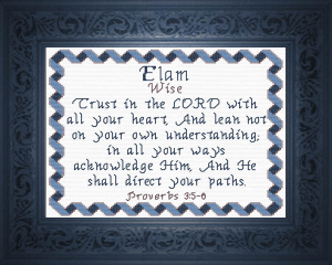 Name Blessings - Elam | Crafting | Cross-Stitch | Religious