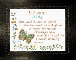 name blessings - lilyann