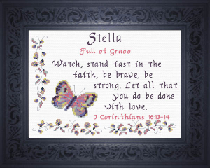 Name Blessings - Stella | Crafting | Cross-Stitch | Religious