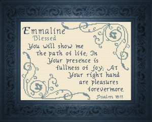 Name Blessings - Emmalyn | Crafting | Cross-Stitch | Religious