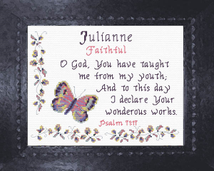 Name Blessings - Julianne | Crafting | Cross-Stitch | Other
