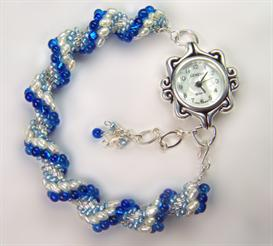 Blue Pearl Watch Band | eBooks | Arts and Crafts
