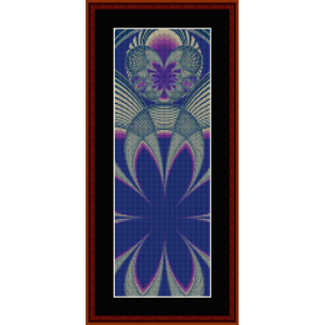 fractal 405 bookmark - cross stitch pattern by cross stitch collectibles