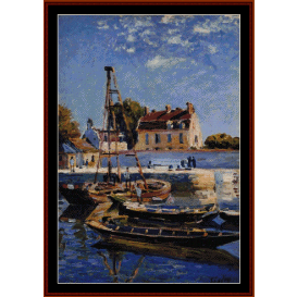 boats, 1885 - sisley cross stitch pattern by cross stitch collectibles