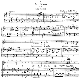 ave maria, high voice in f major, l.cherubini. caecilia, ed. andré (1894) vol. i, 906-a