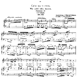 Ch'io mai vi possa, High Voice in D Minor, G F Haendel. Caecilia, Ed. André (1894) Vol. I, 906-a | eBooks | Sheet Music