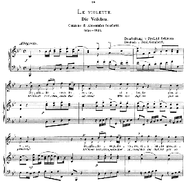 le violette, high voice in b flat major, a. scarlatti. caecilia, ed. andré (1894) vol. i, 906-a