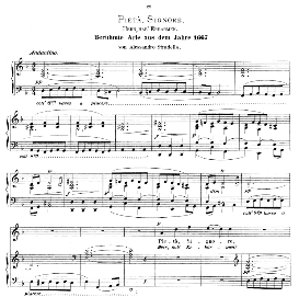Pieta, Signore. High Voice in D Minor, A. Stradella. Caecilia, Ed. André (1894) Vol. I, 906-a | eBooks | Sheet Music