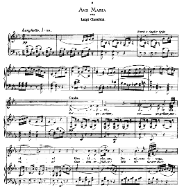 ave maria, medium voice in e flat major, l.cherubini. caecilia, ed. andré (1876) vol. i, 906-b. pd