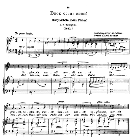 Begli occhi, mercè. Medium Voice in E Minor, A.F.Tenaglia.  Caecilia, Ed. André (1876) Vol. I, 906-b. PD | eBooks | Sheet Music