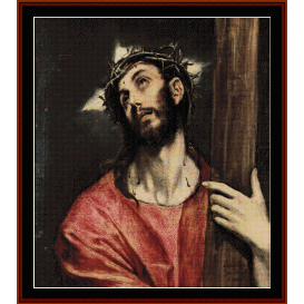 christ carrying the cross - el greco cross stitch pattern by cross stitch collectibles