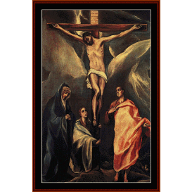 christ on the cross - el greco cross stitch pattern by cross stitch collectibles