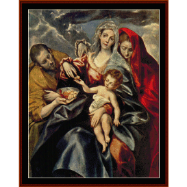 holy family - el greco cross stitch pattern by cross stitch collectibles