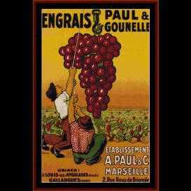 engrais paul & gounelle - vintage poster cross stitch pattern by cross stitch collectibles