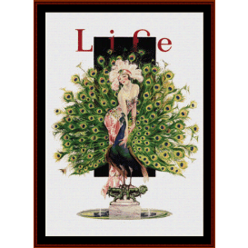 life magaizine - vintage poster cross stitch pattern by cross stitch collectibles