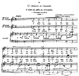 o cessate di piagarmi, medium voice in e minor, a scarlatti. original key. caecilia, ed. andré (1876) vol. i, 906-b. pd