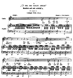 o del mio dolce ardor, medium voice in e minor, c w glück. caecilia, ed. andré (1876) vol. i, 906-b. pd