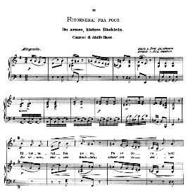 Ritornerai fra poco, Medium Voice in E Minor, A Hasse. Caecilia, Ed. André (1876) Vol. I, 906-b. PD | eBooks | Sheet Music