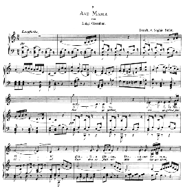 ave maria, low voice in c major, l.cherubini.  caecilia, ed. andré (1876) vol. i, 906-b. pd