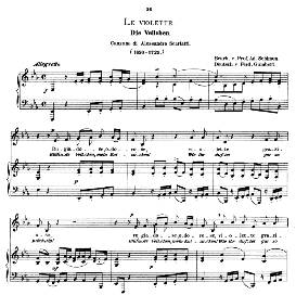 le violette, low voice in e flat major, a. scarlatti.  caecilia, ed. andré (1876) vol. i, 906-c. pd