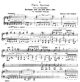 Pieta,Signore. Low Voice in A Minor, A. Stradella. Caecilia, Ed. André (1876) Vol. I, 906-c. PD | eBooks | Sheet Music