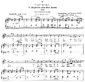 Caro mio ben, High Voice in G Major, G.Giordani. Caecilia, Ed. André (1900) Vol. II, 906-d. PD | eBooks | Sheet Music