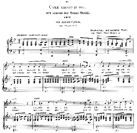 Come raggio di sol, High Voice in G Minor, A.Caldara. Caecilia, Ed. André (1900) Vol. II, 906-d. PD | eBooks | Sheet Music