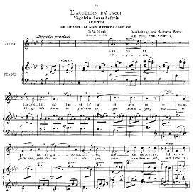 L'augellin da' lacci, High Voice in A Flat Major, C.W.Glück. Caecilia, Ed. André (1900) Vol. II, 906-d. PD | eBooks | Sheet Music