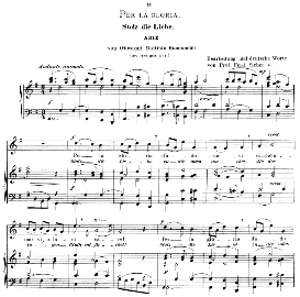 Per la gloria d'adorarvi, High Voice in G Major, G.B.Bononcini. Caecilia, Ed. André (1900) Vol. II, 906-d. PD | eBooks | Sheet Music