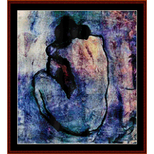 blue nude - picasso cross stitch pattern by cross stitch collectibles