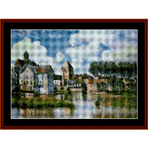 moret sur loing - sisley cross stitch pattern by cross stitch collectibles