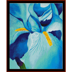Blue Iris - Floral cross stitch pattern by Cross Stitch Collectibles | Crafting | Cross-Stitch | Wall Hangings