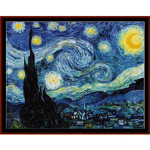 Starry Night Poster-size - Van Gogh cross stitch pattern by Cross Stitch Collectibles | Crafting | Cross-Stitch | Wall Hangings