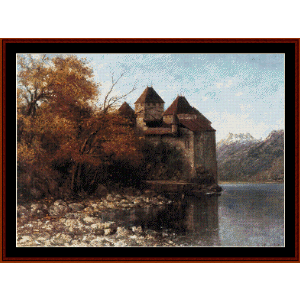 chateau de chillon - courbet cross stitch pattern by cross stitch collectibles