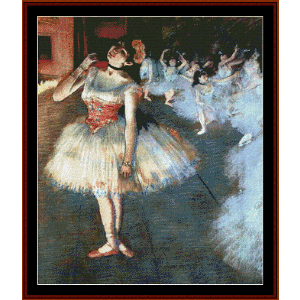 the star - degas cross stitch pattern by cross stitch collectibles