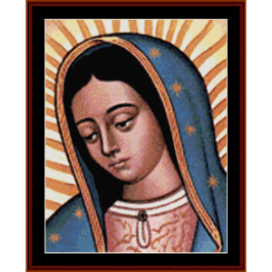 our lady of guadalupe - religious cross stitch pattern by cross stitch collectibles