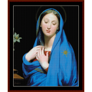 Virgin of the Adoption - Ingres cross stitch pattern by Cross Stitch Collectibles | Crafting | Cross-Stitch | Wall Hangings