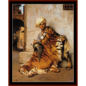 pelt merchant of cairo - gerome cross stitch pattern by cross stitch collectibles