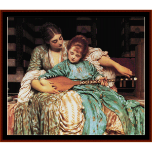 Music Lesson - Leighton cross stitch pattern by Cross Stitch Collectibles | Crafting | Cross-Stitch | Wall Hangings