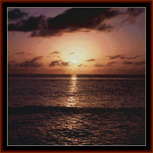 sunset - scenic cross stitch pattern by cross stitch collectibles