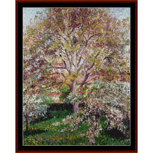 walnuts and apple trees - pissarro cross stitch pattern by cross stitch collectibles