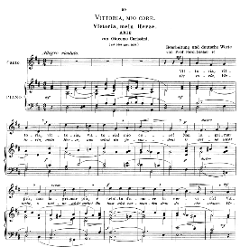 Vittoria, mio core. High Voice in D Major, G. Carissimi.  Caecilia, Ed. André (1900) Vol. II, 906-d. PD | eBooks | Sheet Music