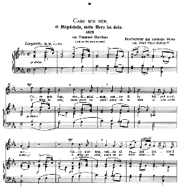 caro mio ben, medium voice in e flat major, g.giordani. caecilia, ed. andré (1900) vol. ii, 906-e. pd