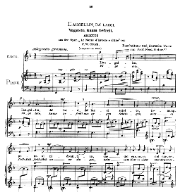 L'augellin da' lacci, Medium Voice in F Major, C.W.Glück. Caecilia, Ed. André (1900) Vol. II, 906-e. PD | eBooks | Sheet Music