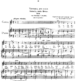 vittoria, mio core. medium voice in c major, g carissimi.  caecilia, ed. andré (1900) vol. ii, 906-e pd