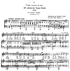 come raggio di sol, low voice in d minor, a.caldara. caecilia, ed. andré (1900) vol. ii, 906-f. pd