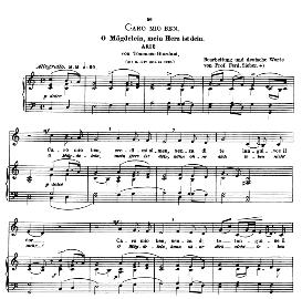 Caro mio ben, Low Voice in C Major, G.Giordani.  Caecilia, Ed. André (1900) Vol. II, 906-f. PD | eBooks | Sheet Music