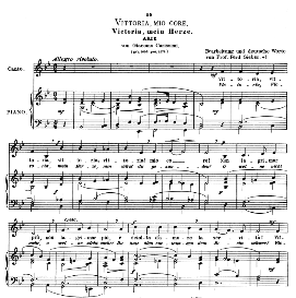 vittoria, mio core, low voice in b flat major, g. carissimi.  caecilia, ed. andré (1900) vol. ii, 906-f. pd