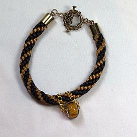 kumihimo autumn bracelet