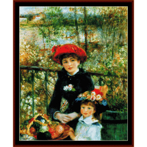 on the terrace - renoir cross stitch pattern by cross stitch collectibles